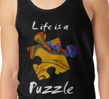 Life is a puzzle, white Tank Top