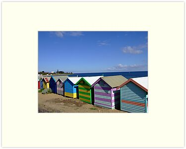 Bathing Boxes - Brighton Beach, Melbourne by BreeDanielle