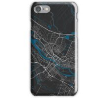 Bremen city map black colour iPhone Case/Skin