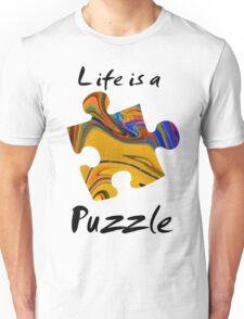 Life is a puzzle, black  Unisex T-Shirt