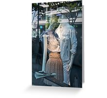 japanese mannequins Greeting Card
