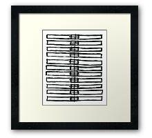 Brush Squares 01 Framed Print