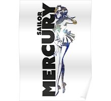 Sailor Mercury PlanetScape Decal Poster