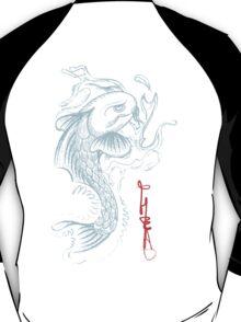 Koi Digital Brush Painting T-Shirt