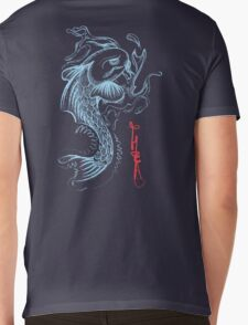 Koi Digital Brush Painting Mens V-Neck T-Shirt