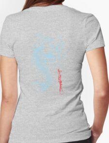 Koi Digital Brush Painting Womens Fitted T-Shirt