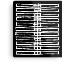Brush Squares Metal Print
