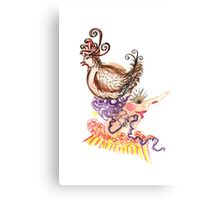 chicken hat  Canvas Print