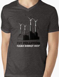 Cut Pollution - Clean Energy Now Mens V-Neck T-Shirt