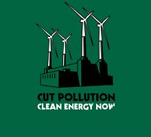 Cut Pollution - Clean Energy Now Womens Fitted T-Shirt