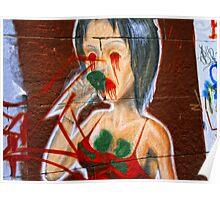 Disfigured or street art. Poster