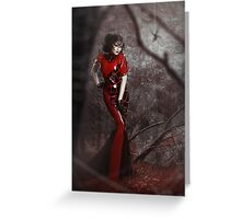 Red Widow Greeting Card