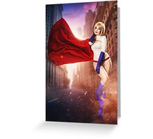 Power Girl Greeting Card