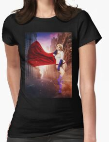 Power Girl Womens Fitted T-Shirt