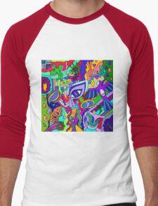 Abstract 17 Men's Baseball ¾ T-Shirt