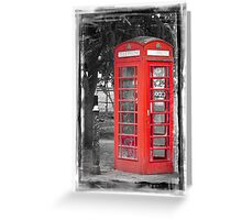 Heritage Trail No1: Red Telephone Box Greeting Card