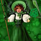 GATHERING SHAMROCKS IN A FROCK ALL MADE OF GREEN -SAINT PARTICKS DAY PILLOW,TOTEBAG- PICTURE AND OR CARD by ✿✿ Bonita ✿✿ ђєℓℓσ