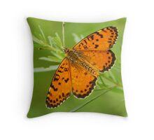 colour in green Throw Pillow