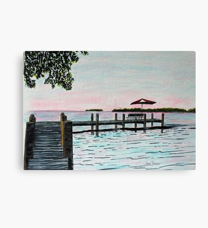 Garlic Island On Lake Winnebago Canvas Print