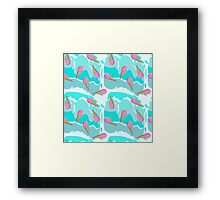 Pink ice cream in waffle cone Framed Print