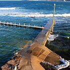 Narrabeen Pool from above by Doug Cliff