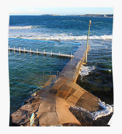 Narrabeen Pool from above Poster