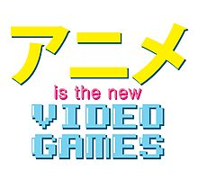 Anime Is The New Videogames Photographic Print