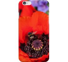 Bee on a poppy iPhone Case/Skin