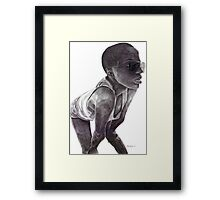 Action! Framed Print