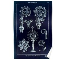 A Handbook Of Ornament With Three Hundred Plates Franz Sales Meyer 1896 0403 Metal Objects Crozier Monstrance Inverted Poster