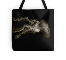 black and white jelly fish.... Tote Bag