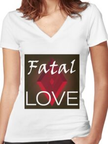 Fatal love Women's Fitted V-Neck T-Shirt