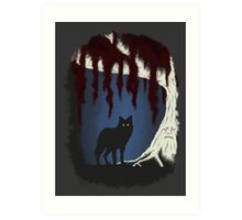 The wolf and the weirwood Art Print