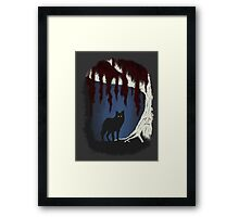 The wolf and the weirwood Framed Print