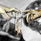 Swinging on a Star (after Michelangelo's Creation of Adam) by Desirée Glanville AKA DevineDayDreams