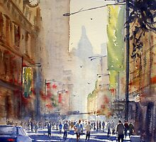 Off to Work, George Street, Sydney by Joe Cartwright