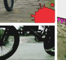 bmx to the max for life Sticker