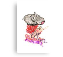 hippo hat Canvas Print