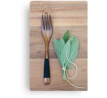 Fork and Sage Metal Print