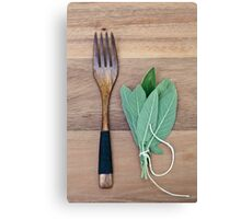 Fork and Sage Canvas Print