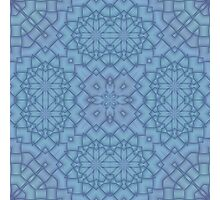 Soft Blue Tracery #2 Photographic Print
