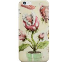 Piranha Plant Botanical Illustration iPhone Case/Skin