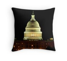 The Capitol at Night Throw Pillow
