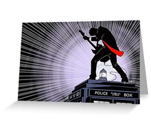 Doctor Who: Shredding Through Time (landscape) Greeting Card
