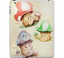 Mario Mushrooms Botanical Illustration iPad Case/Skin