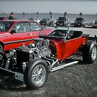 Hot Rod at the Beach ~ Custom Car Series by Jack McCabe