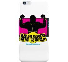 SFWWC Funky Retro Wrestling Logo 80s Style iPhone Case/Skin