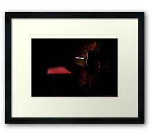 It is during our darkest moments that we must focus to see the light. Framed Print