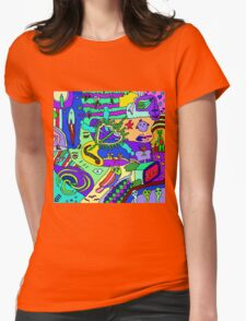Abstract 20 Womens Fitted T-Shirt