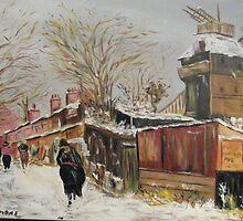 Walking in Montmartre by Maurice Trujillo by Jsimone